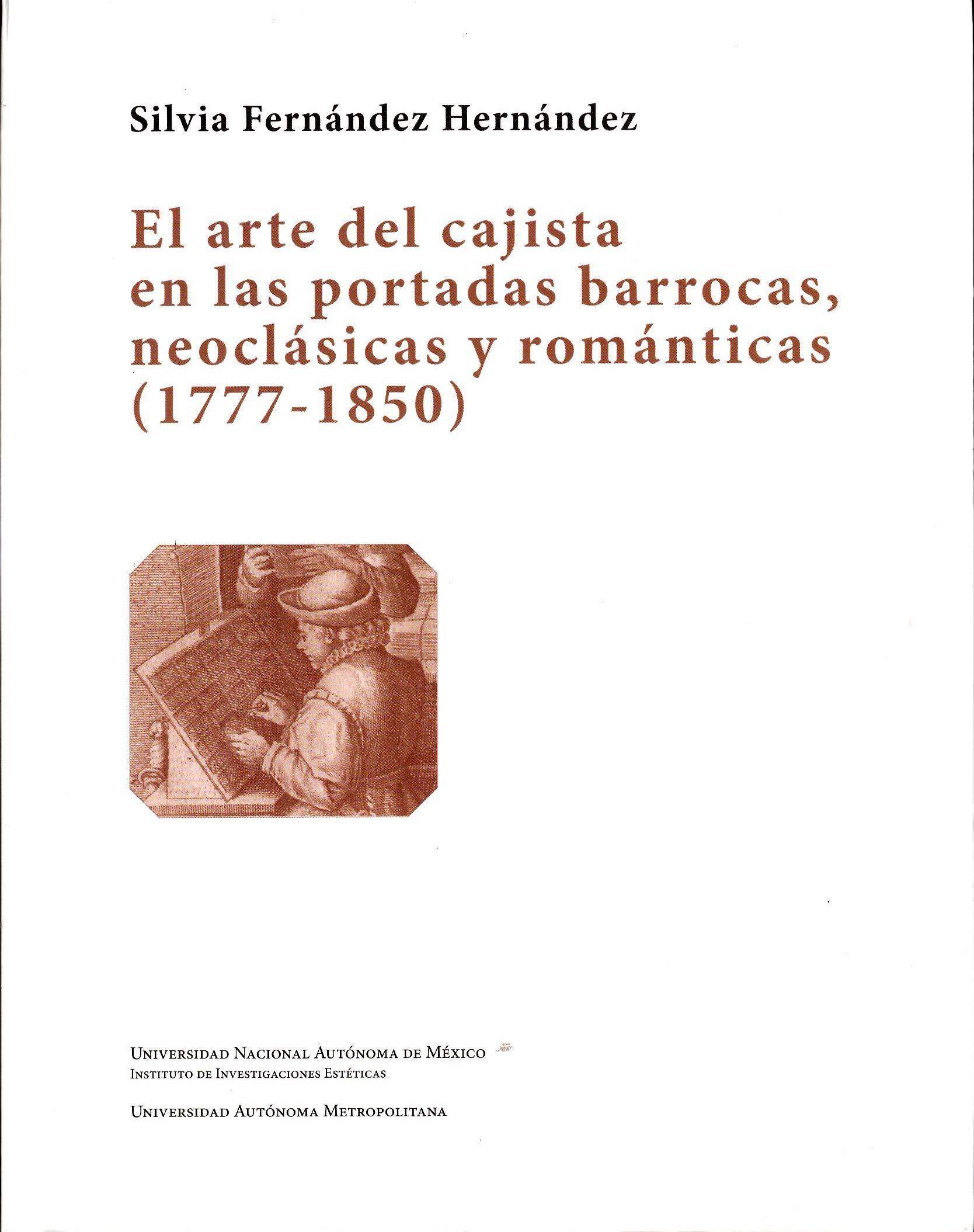 El arte de la cajista en las portadas barrocas, neoclásicas y románticas (1777-1850)
