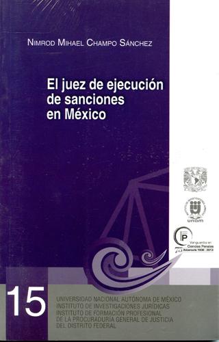 El juez de ejecución de sanciones en México