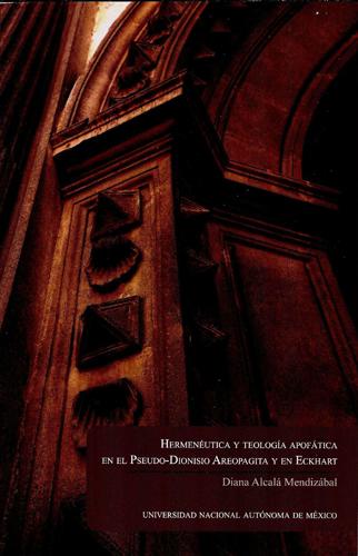 Hermenéutica y teología apofática en el Pseudo-Dionisio Areopagita y en Eckhart