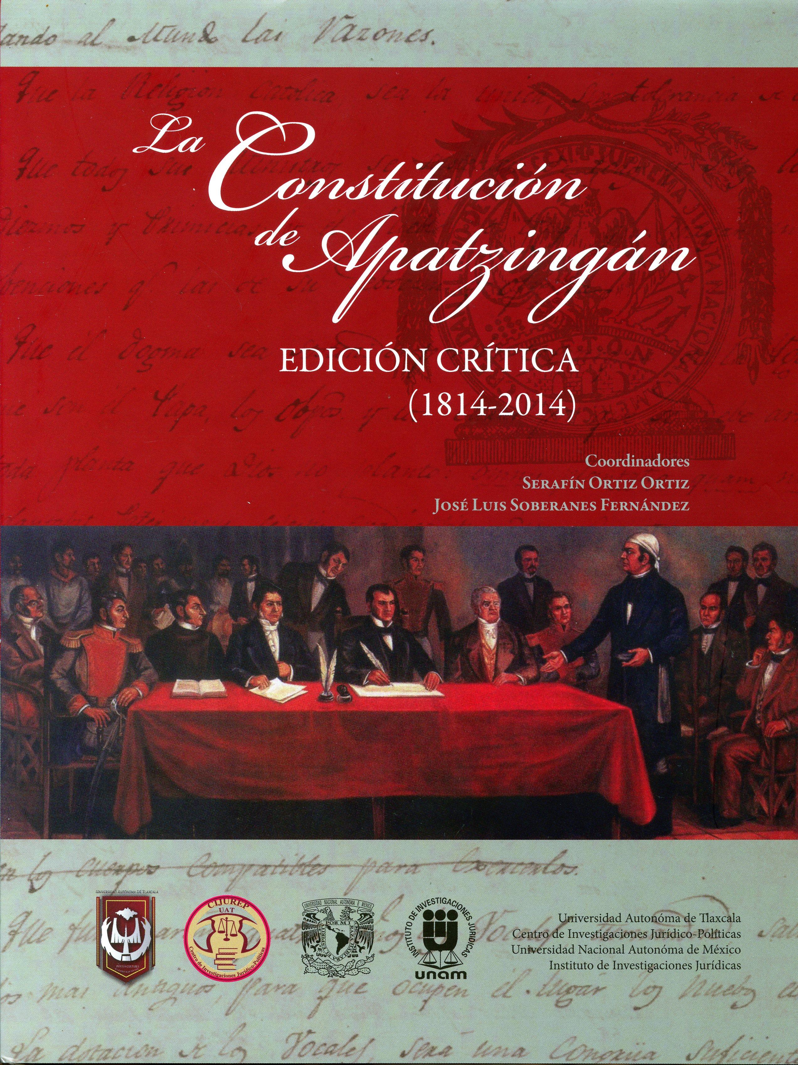 La Constitución de Apatzingán. Edición crítica (1814-2014)