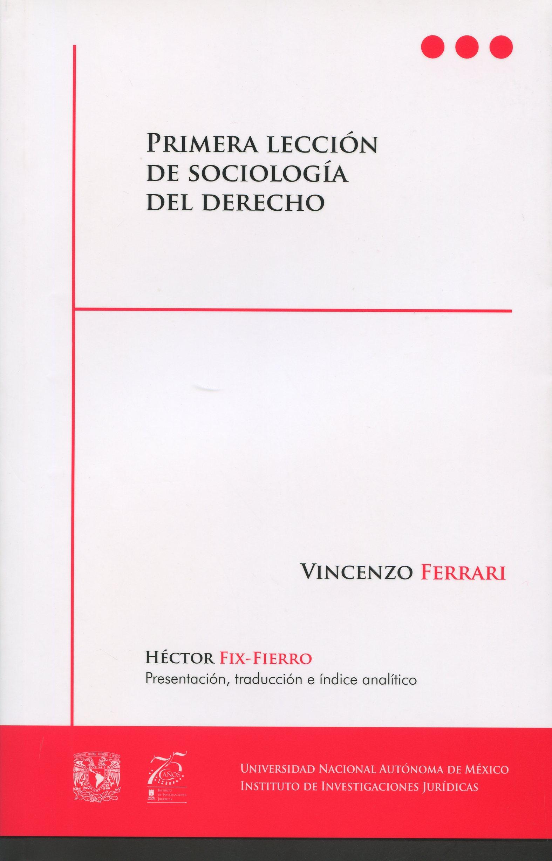 Primera lección de sociología del derecho