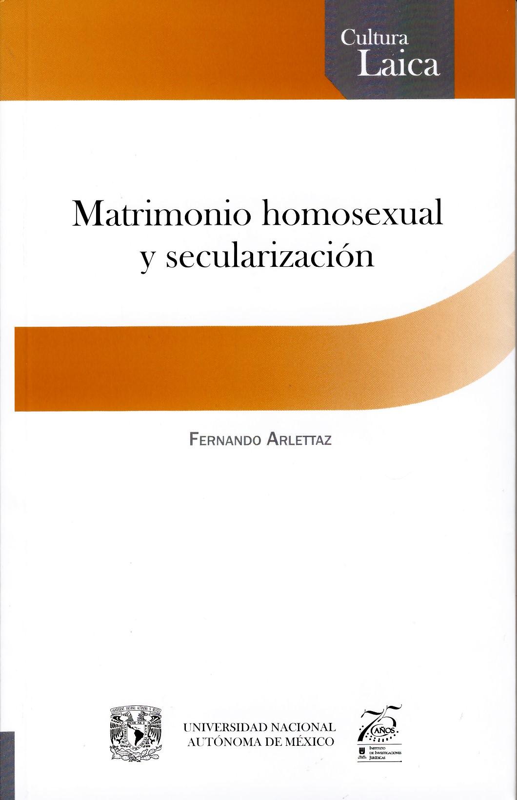 Matrimonio homosexual y secularización