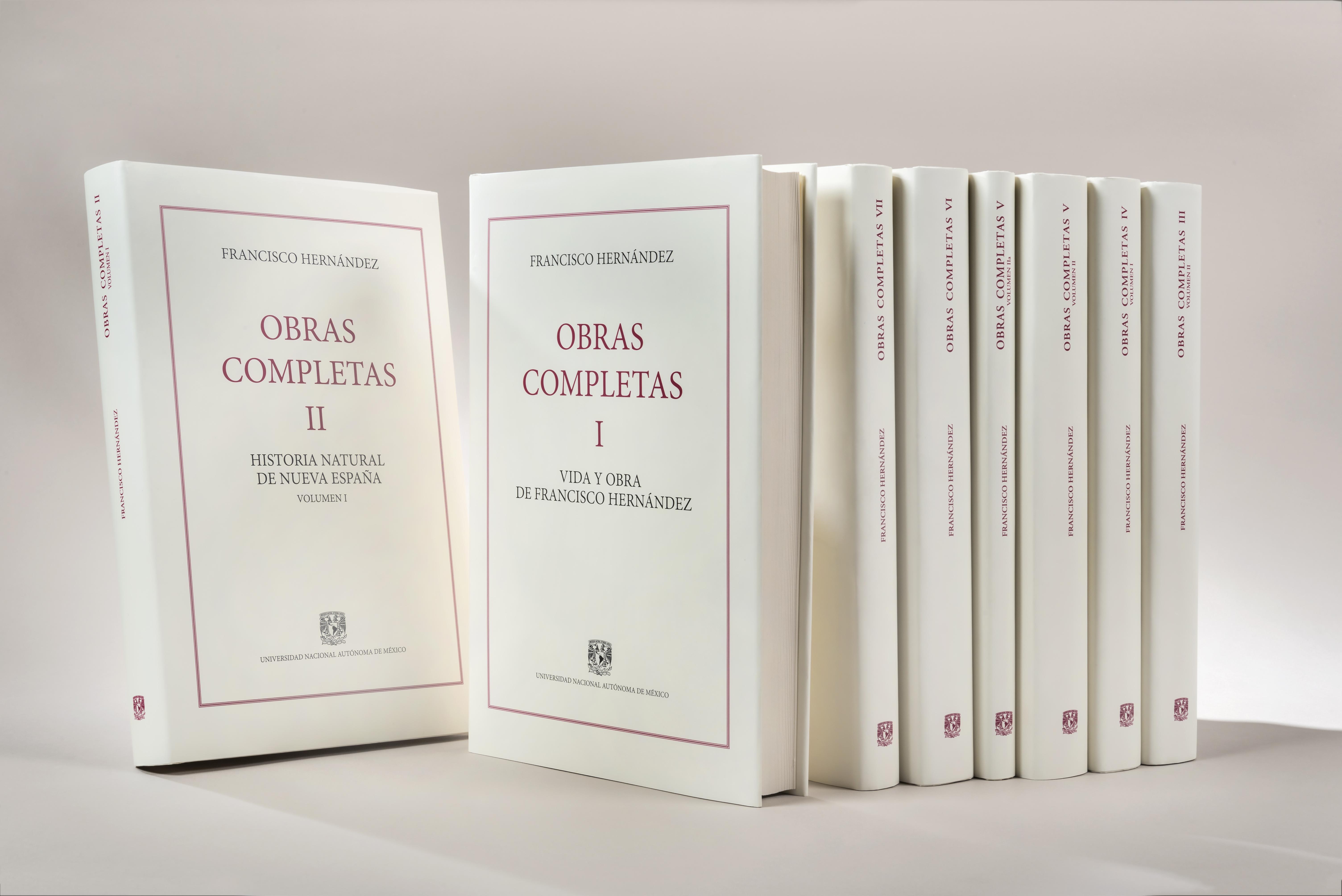 Obras completas de Francisco Hernández (8 volúmenes)