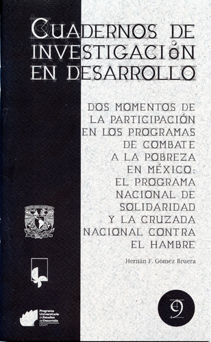 Dos momentos de la participación en los programas de combate a la pobreza en México: