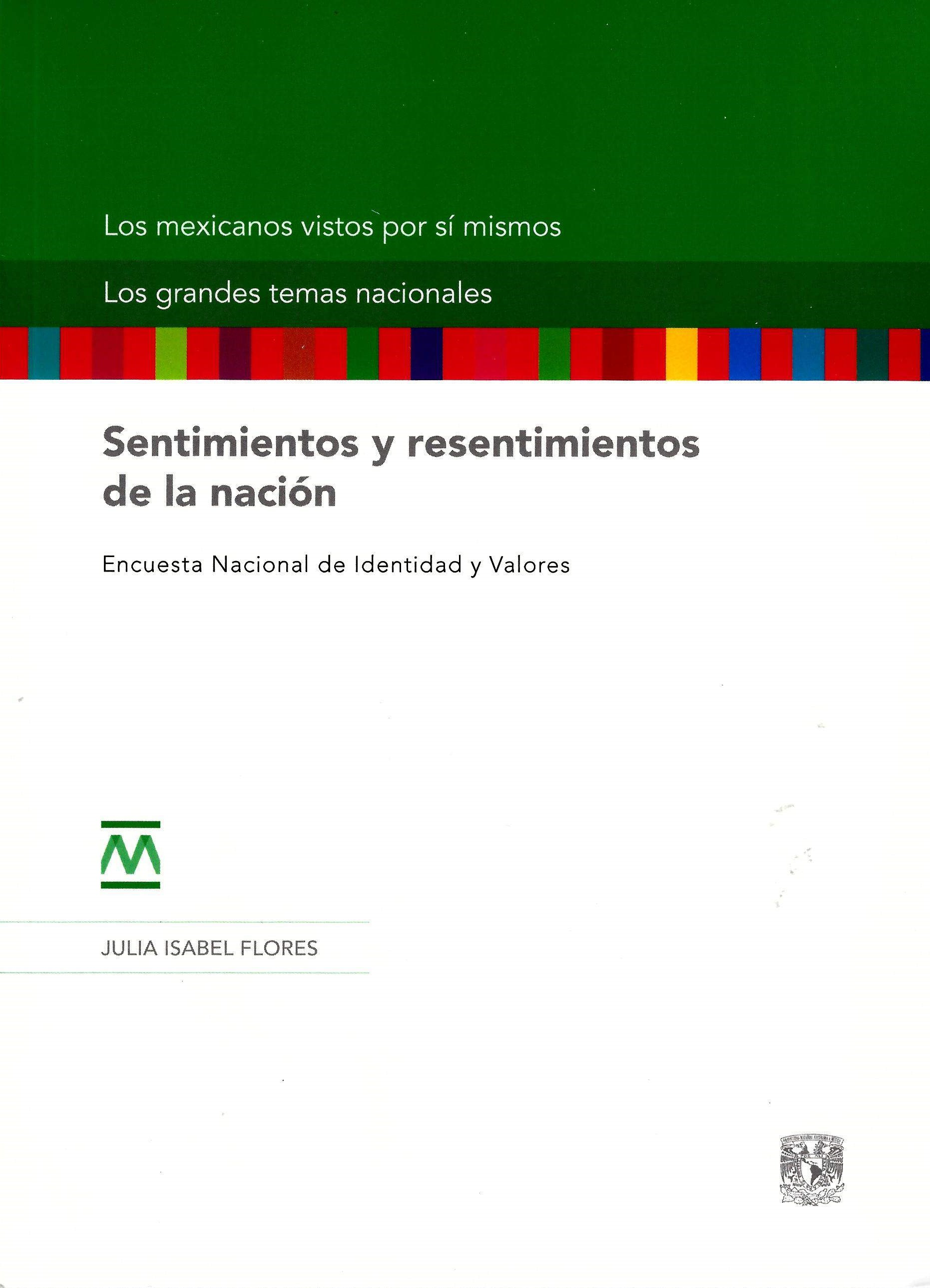 Sentimientos y resentimientos de la nación. Encuesta Nacional de Identidad y V. tela