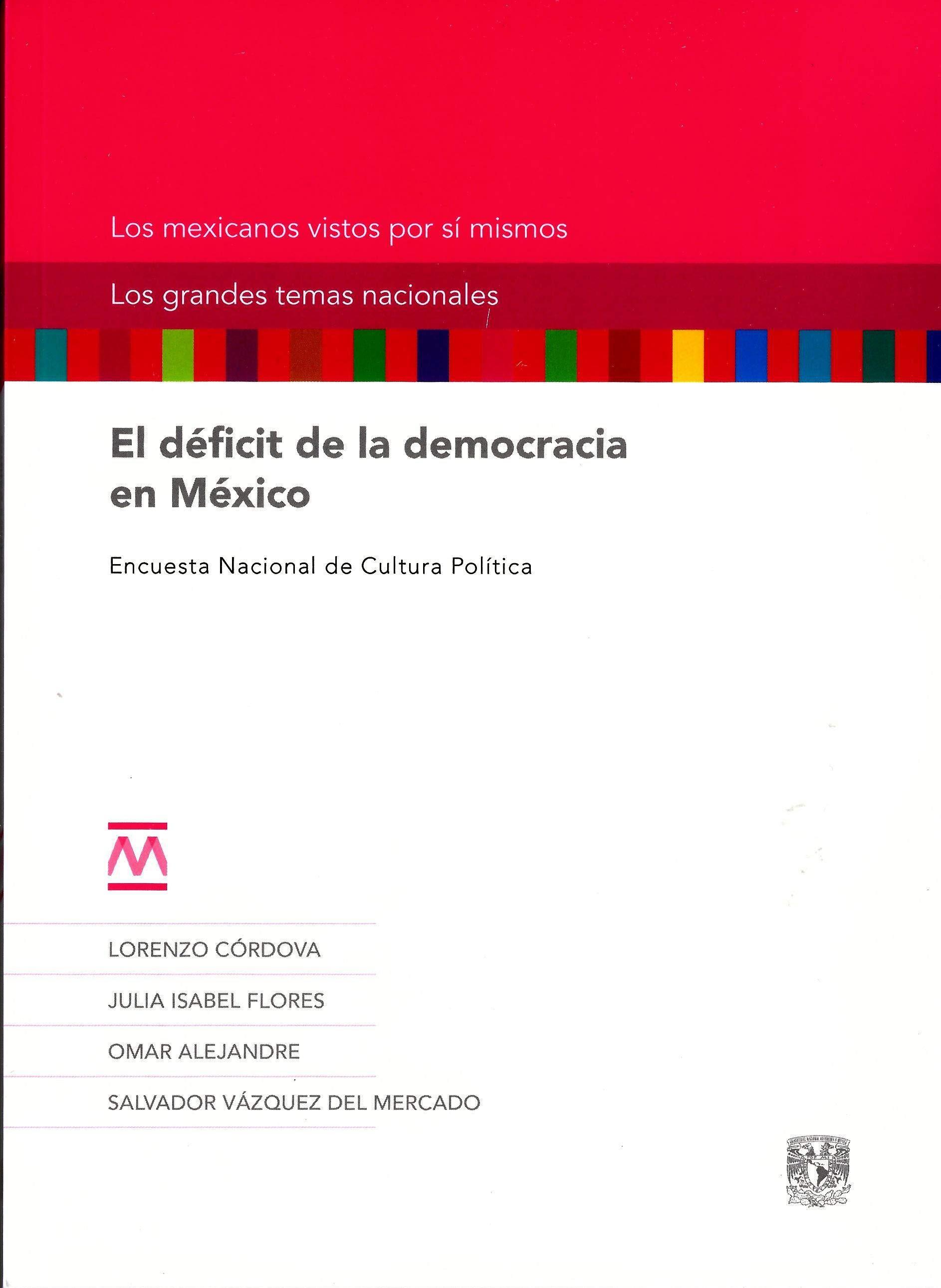 El déficit de la democracia en México. Encuesta Nacional de Cultura Política