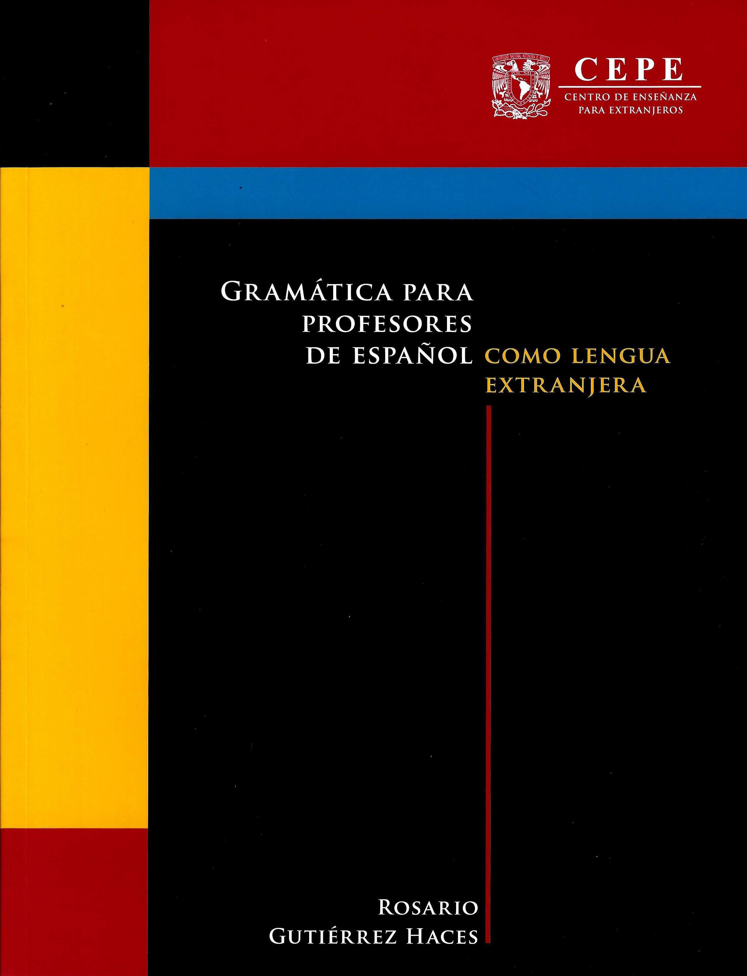 Gramática para profesores de español como lengua extranjera