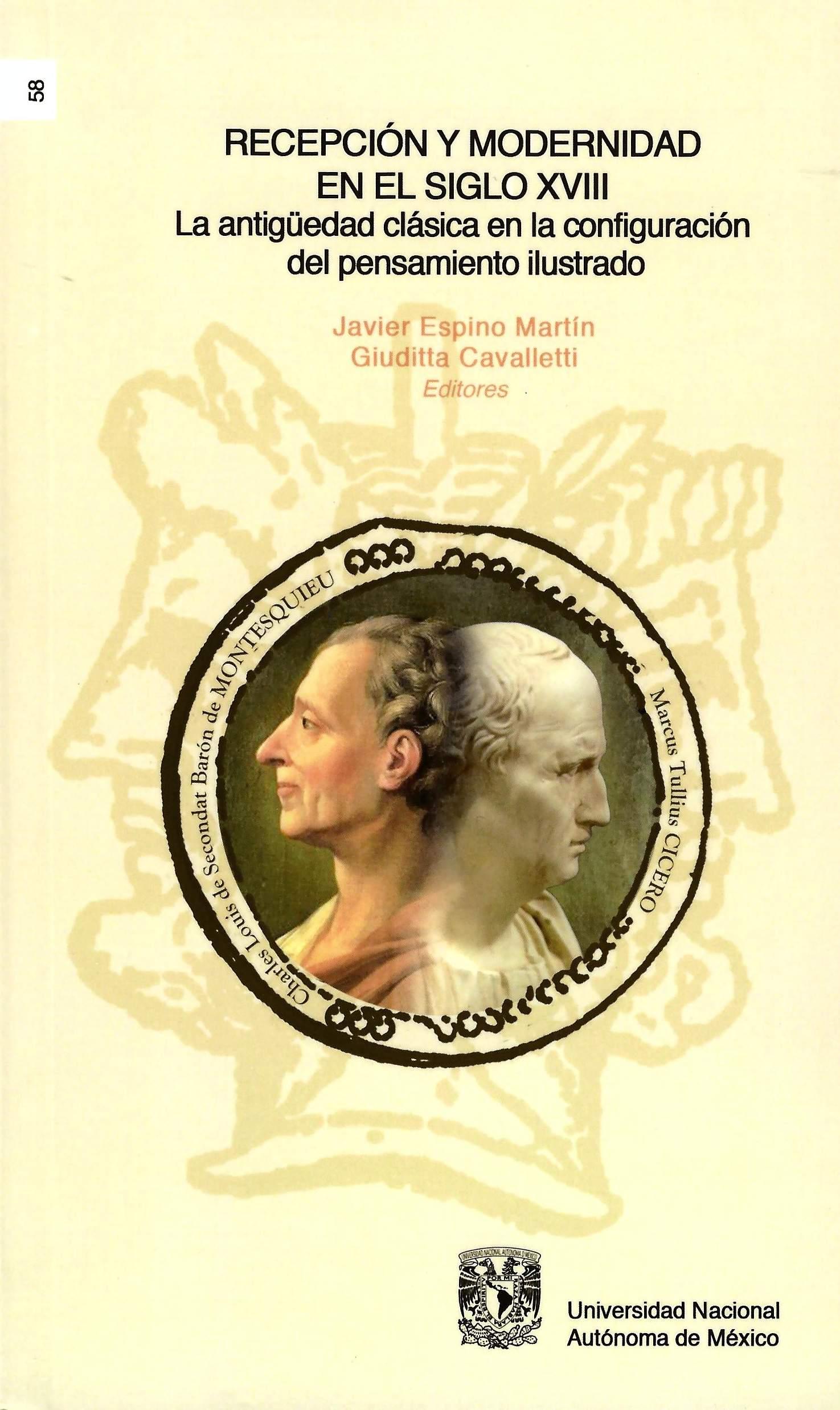 Recepción y modernidad en el siglo XVIII. La antigüedad clásica en la configuración del pensamiento