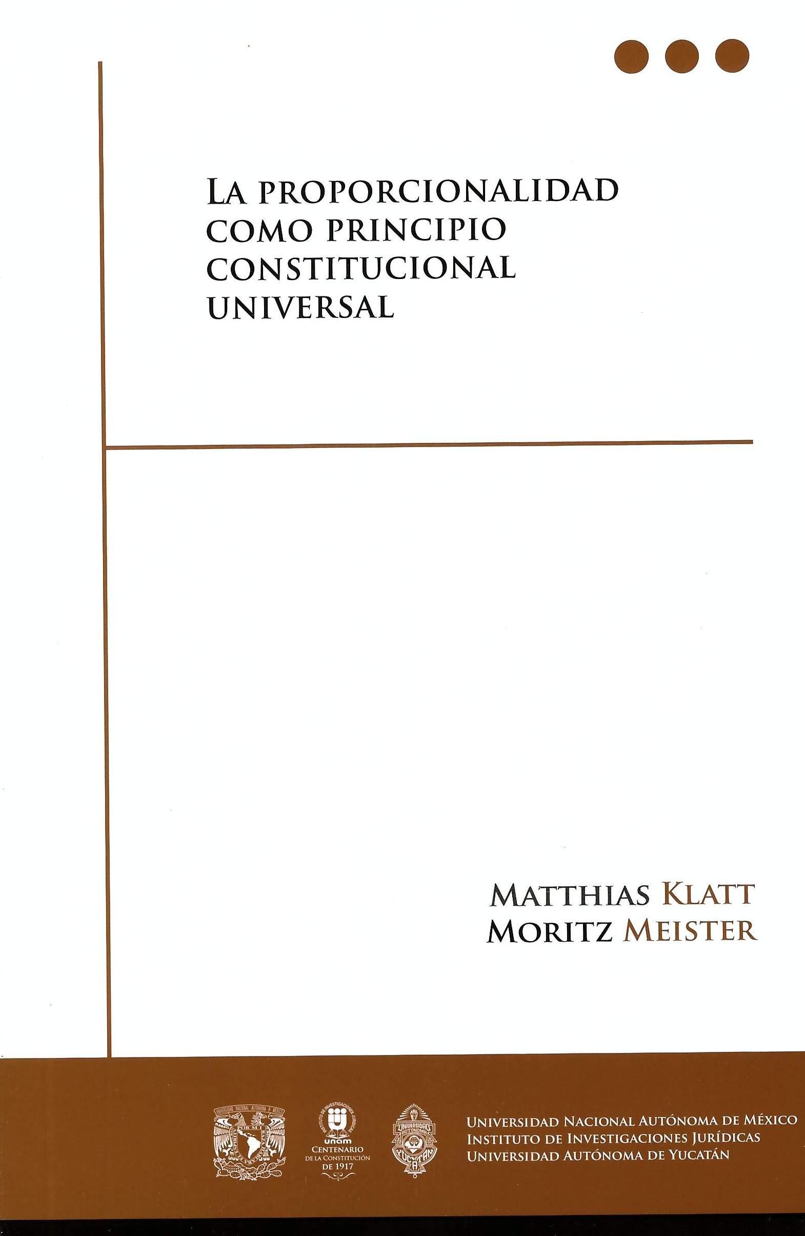 La proporcionalidad como principio constitucional universal