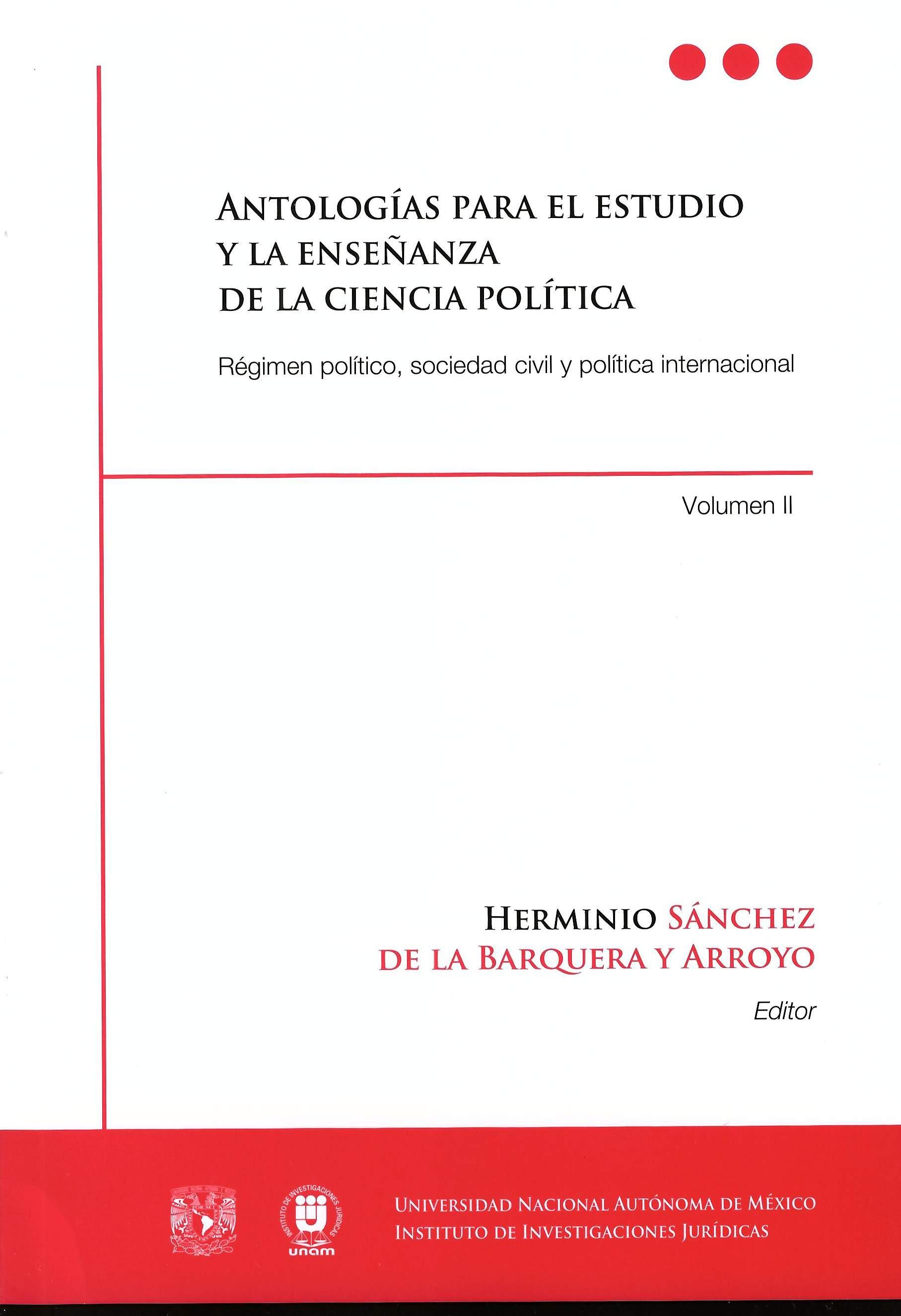 Antologías para el estudio y la enseñanza de la ciencia política. Régimen político, sociedad civil
