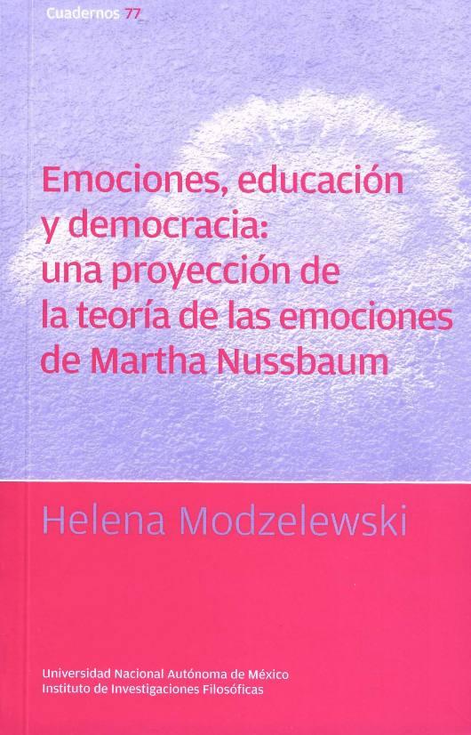 Emociones, educación y democracia: una proyección de la teoría de las emociones de Martha Nussbaum