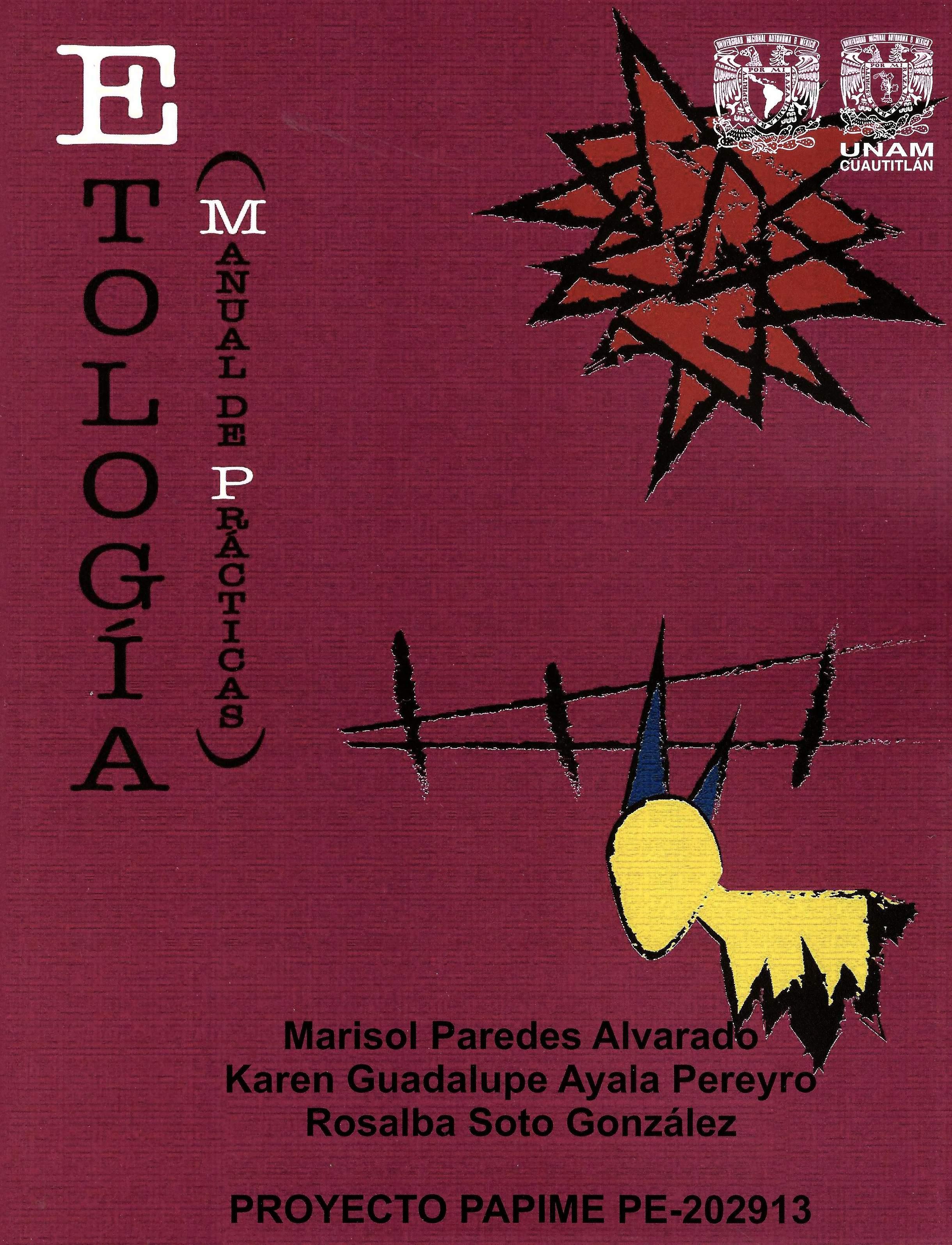 Etología (manual de prácticas)