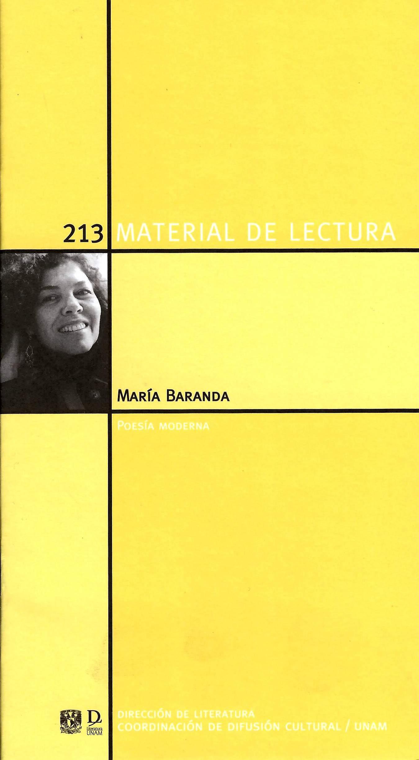 María Baranda. Poesía moderna. Material de lectura