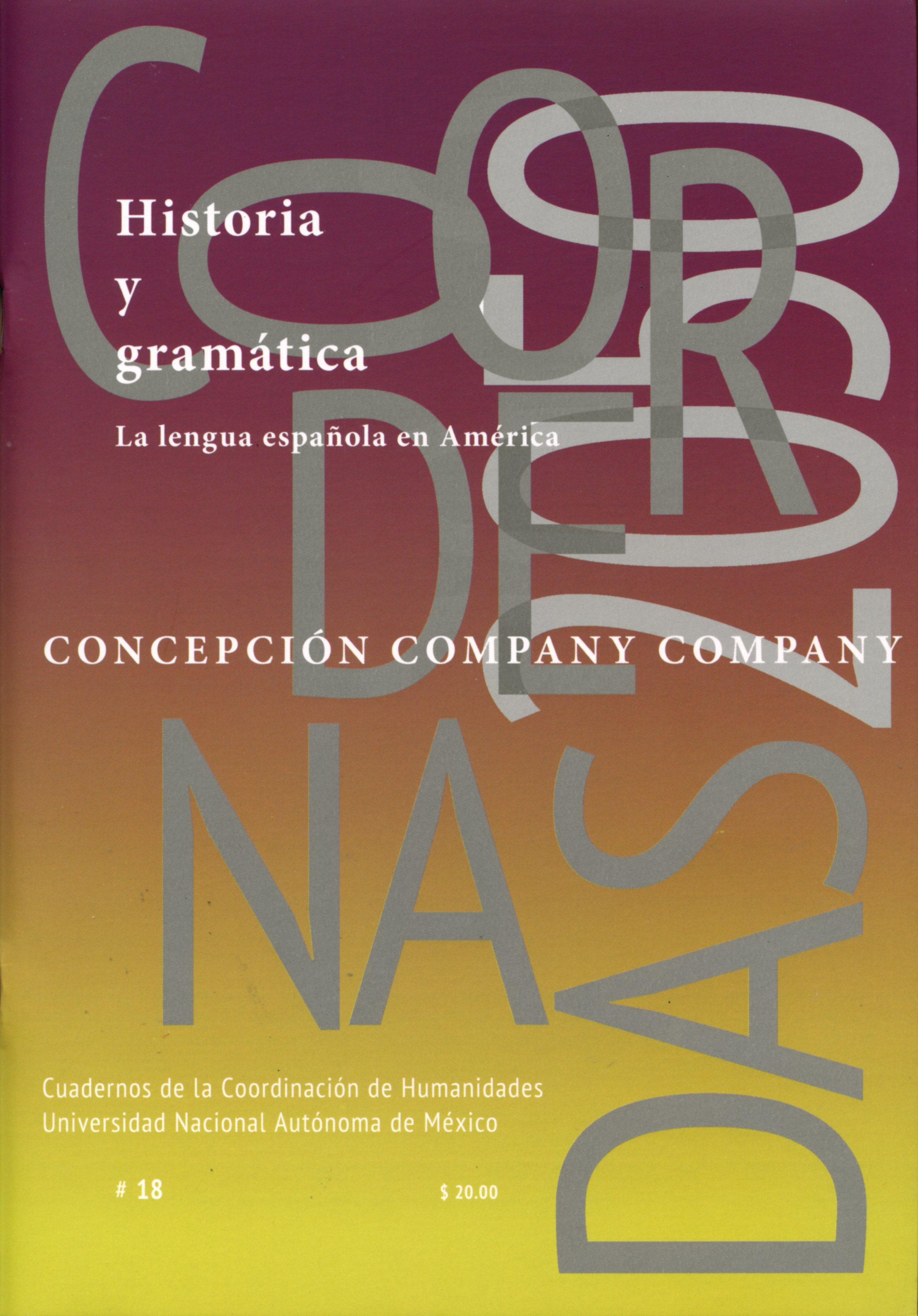 Historia y gramática. La lengua española en América