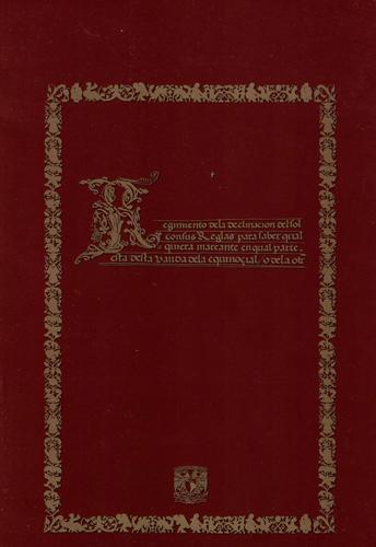 """El """"Regimiento de la declinación del sol"""" del virrey Antonio de Mendoza"""