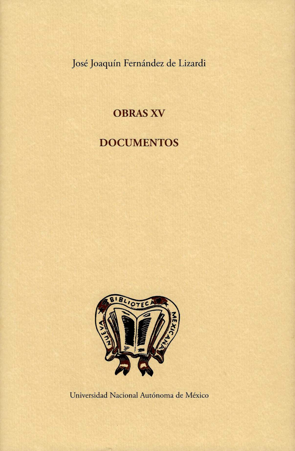 Obras XV: Documentos