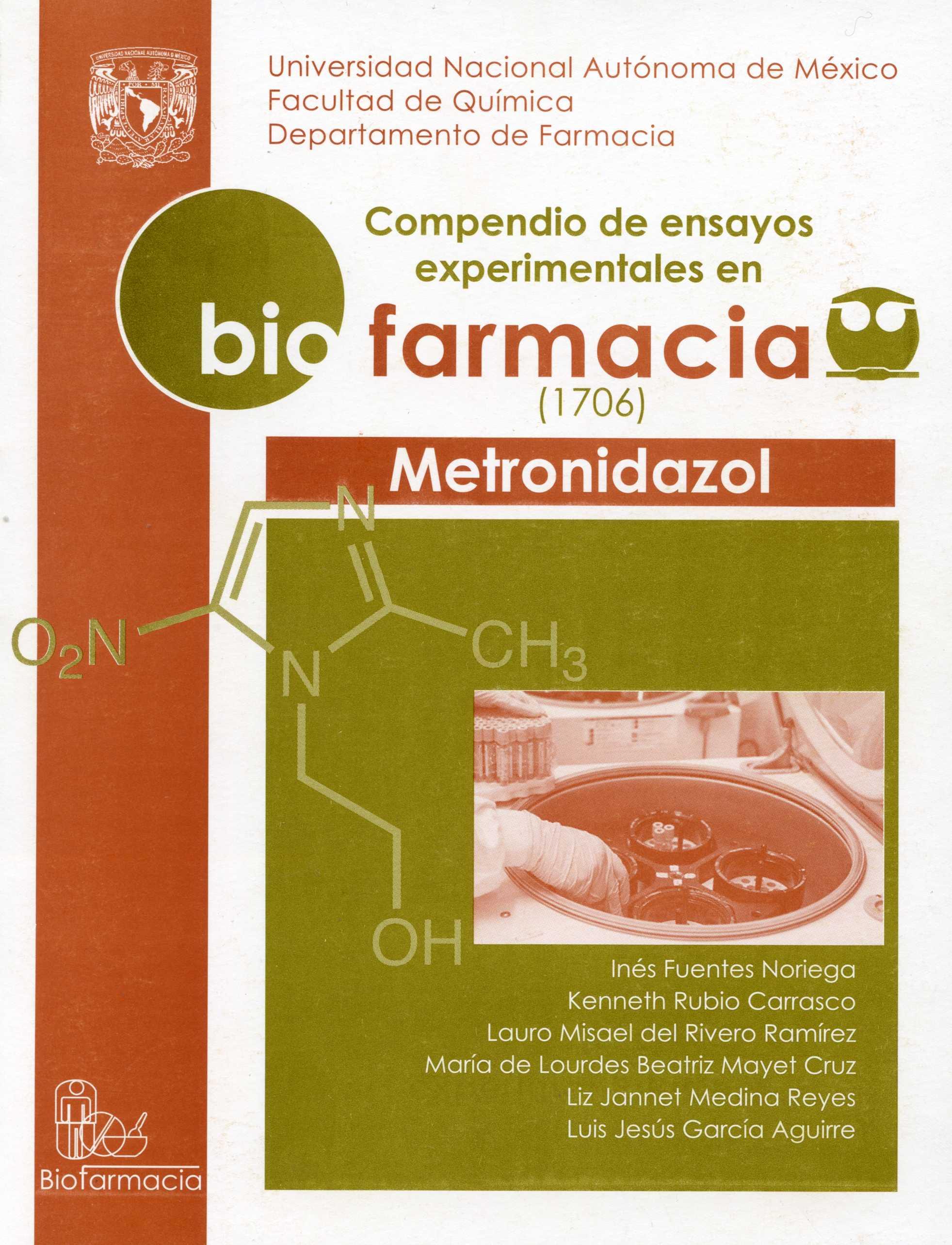 Compendio de ensayos experimentales en biofarmacia (1706). Metronidazol