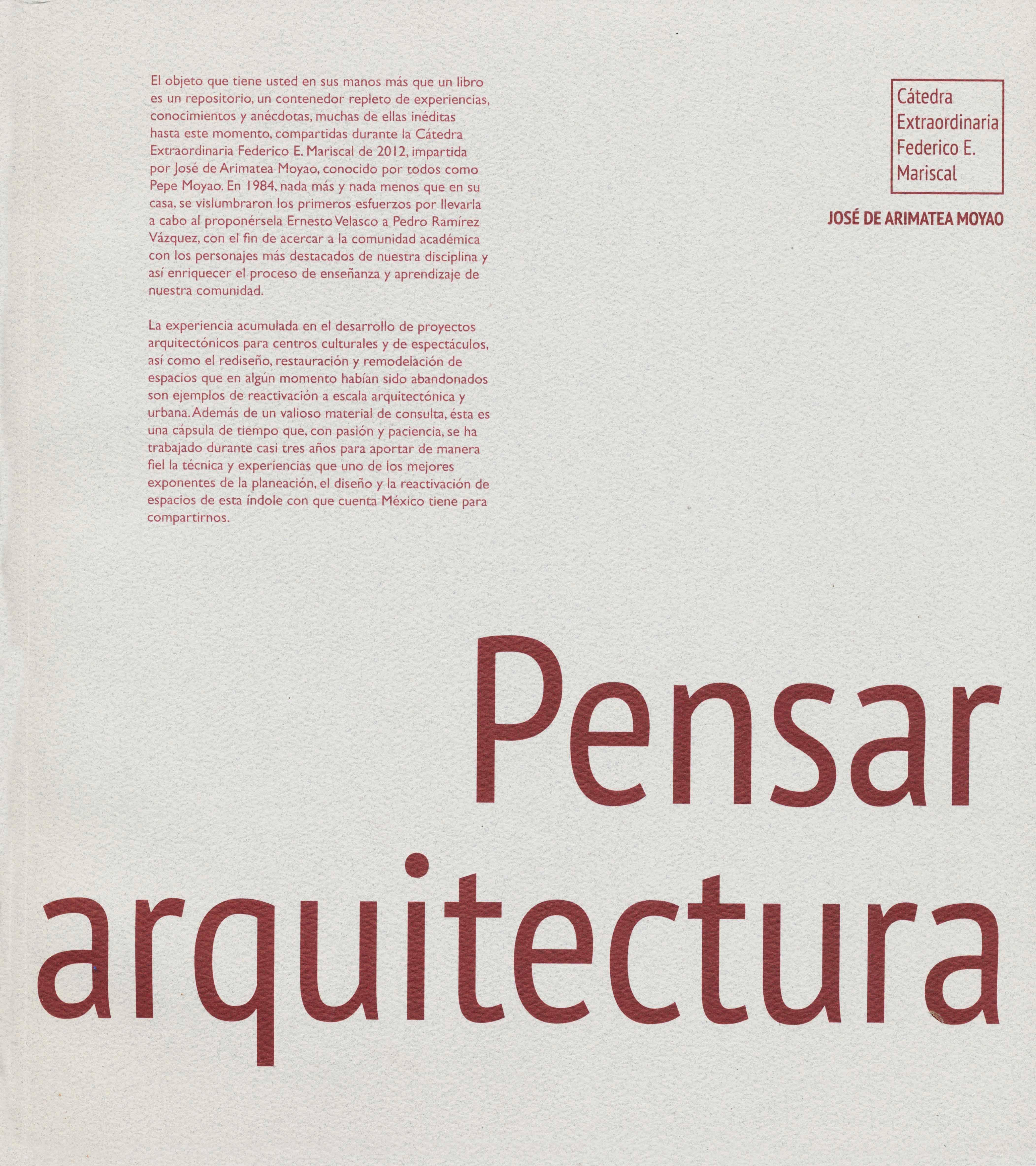 Pensar y repensar la arquitectura