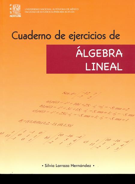 Cuaderno de ejercicios de álgebra lineal