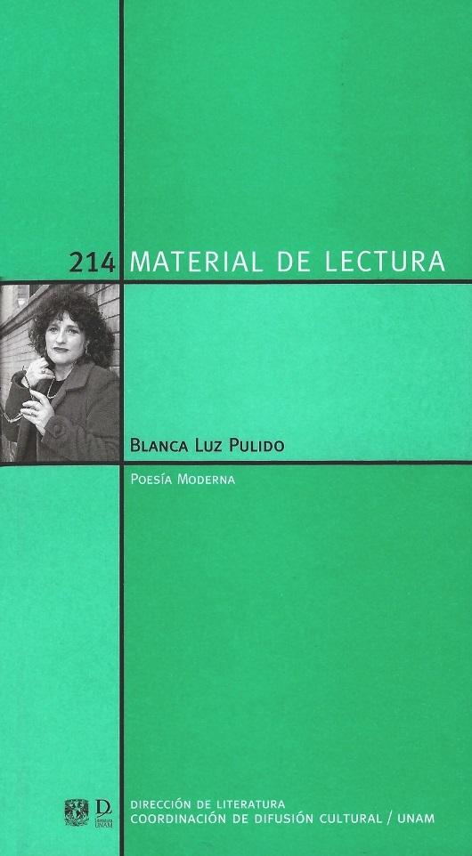 Blanca Luz Pulido. Poesía moderna