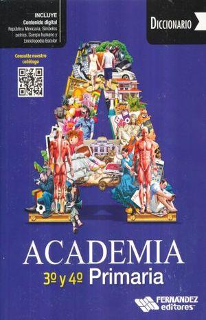 Diccionario Academía 3° y 4° de Primaria