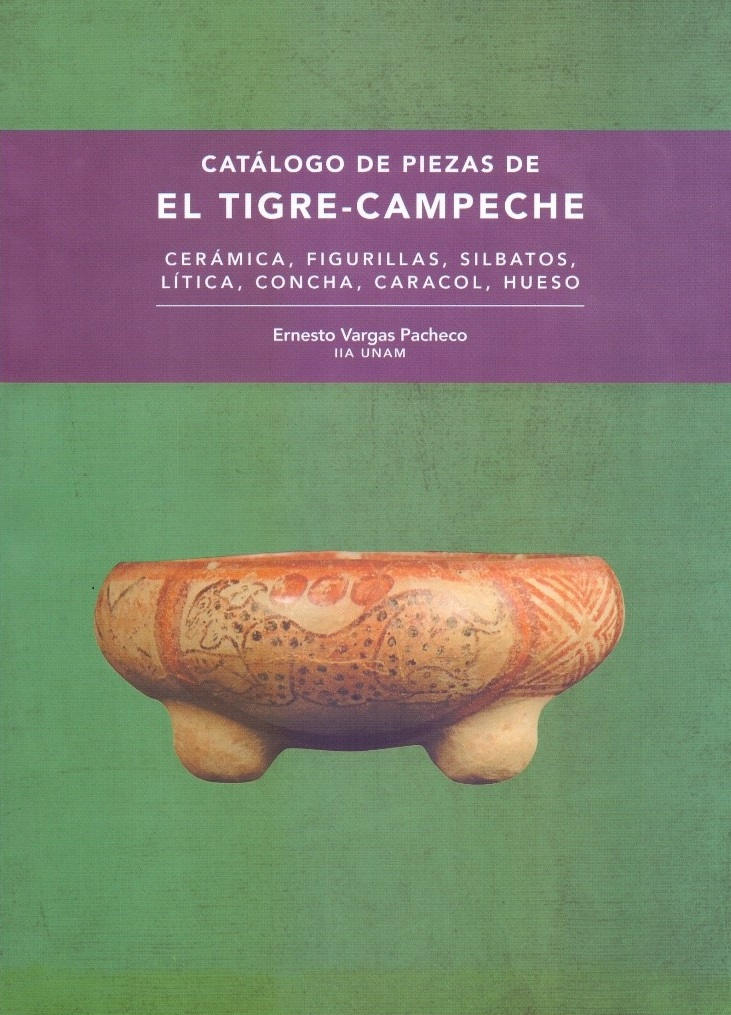 Catálogo de piezas de El Tigre-Campeche: cerámica, figurillas, silbatos, lítica, concha, caracol, hueso