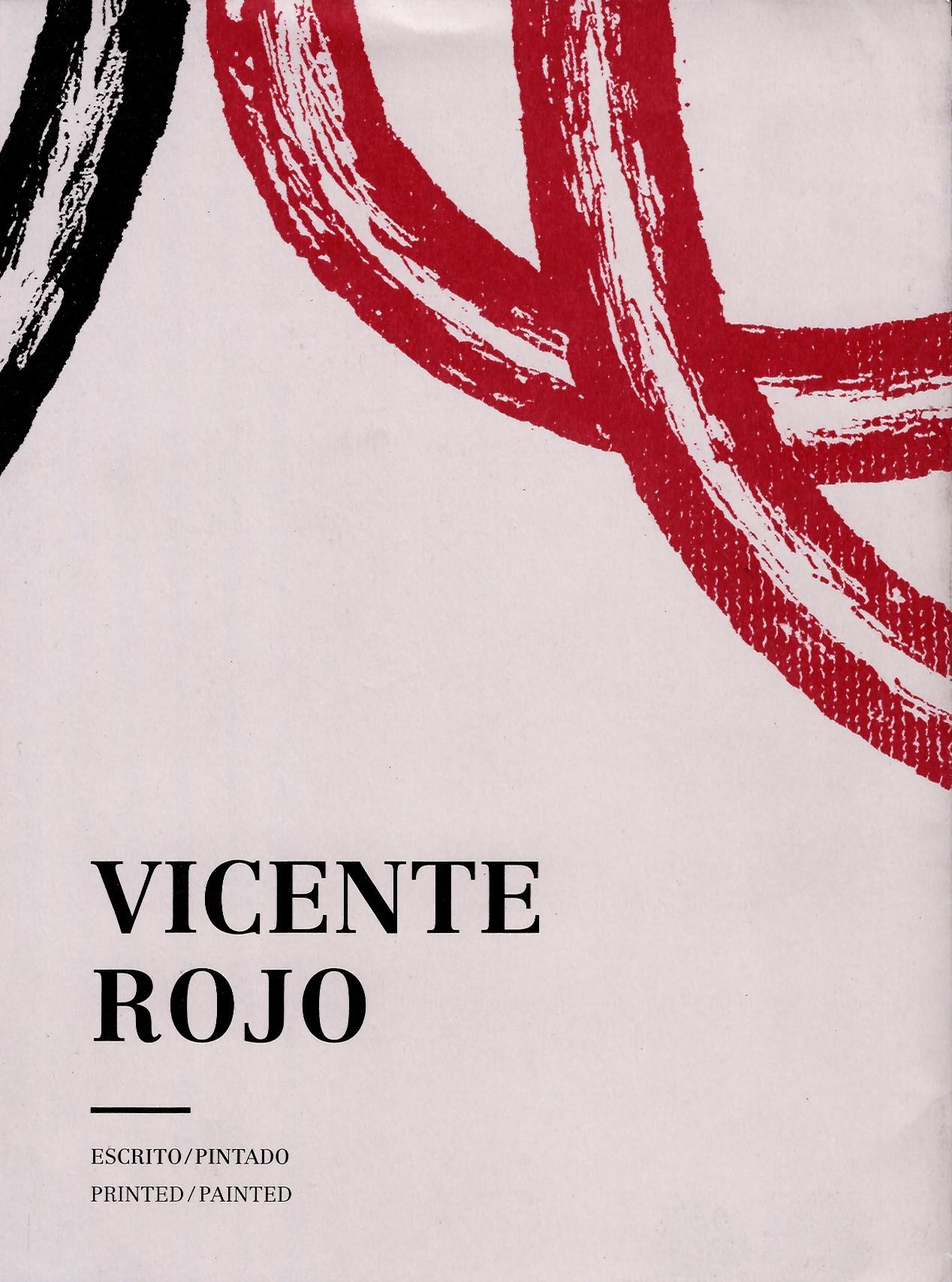 Vicente Rojo Escrito/pintado