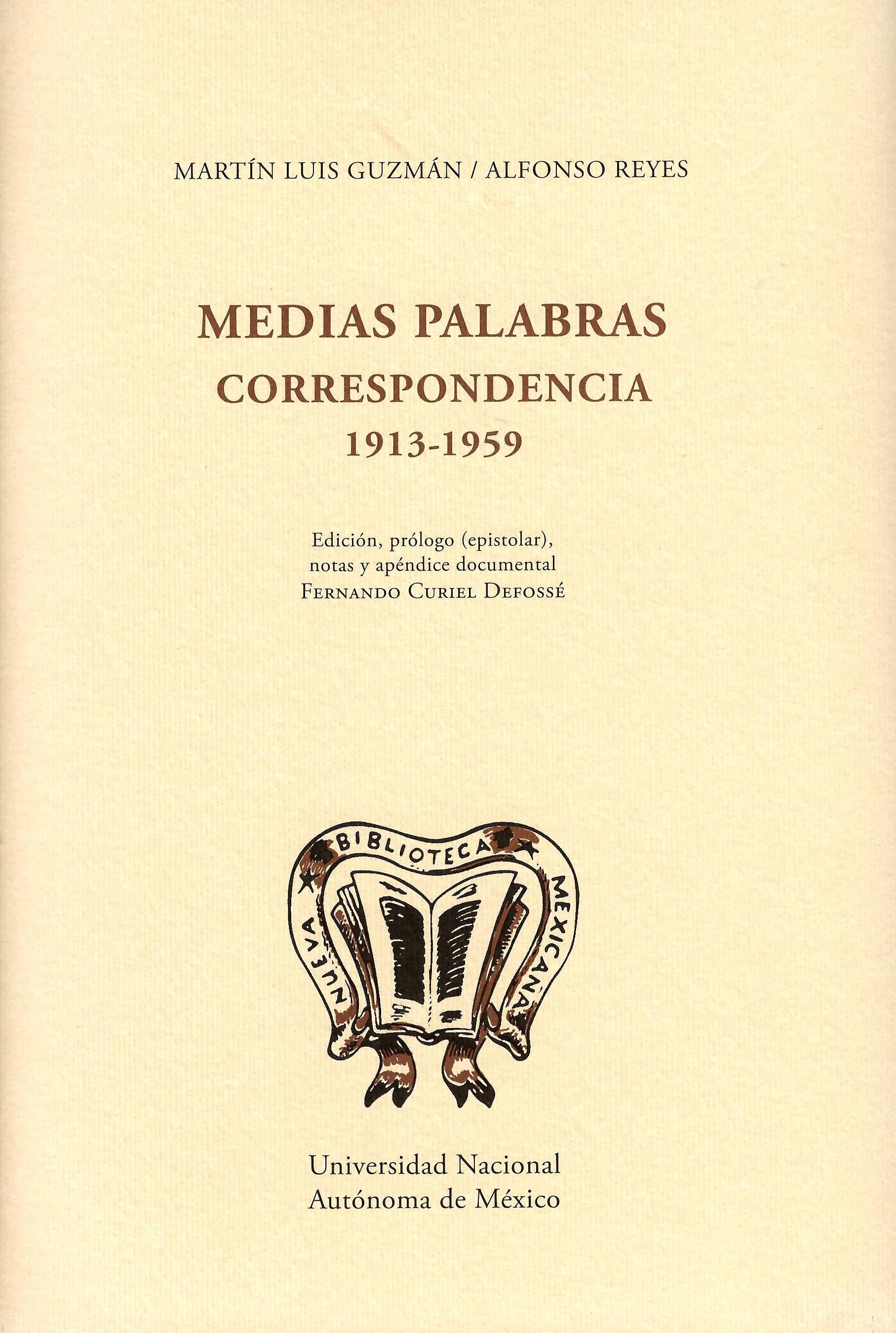 Medias palabras: correspondencia 1913-1959 (pasta dura)
