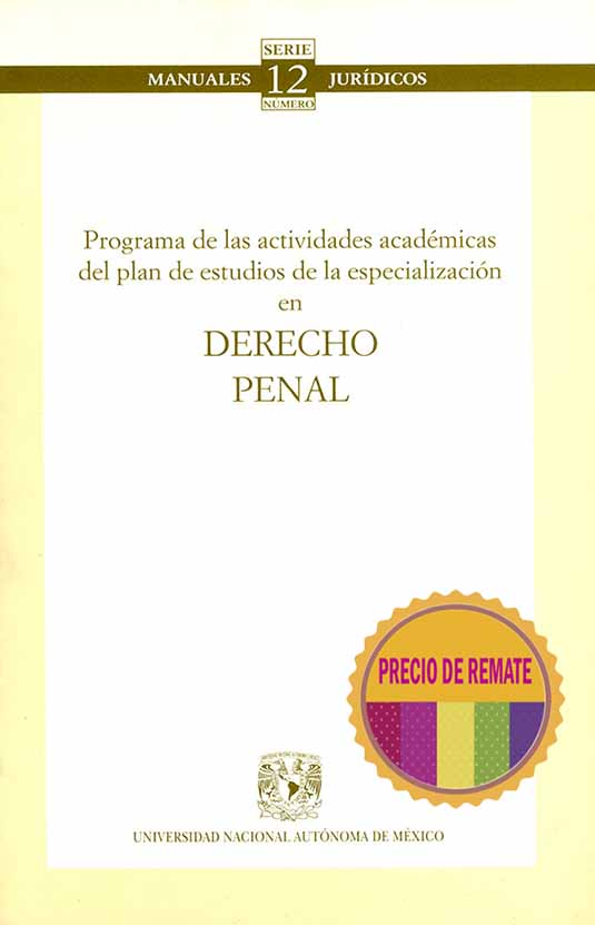 Programa único de las especializaciones en derecho