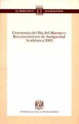 Ceremonia del día del maestro y reconocimiento de antigüedad académica 2002