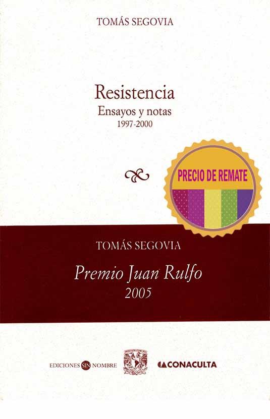 Resistencia. Ensayos y notas 1997-2000