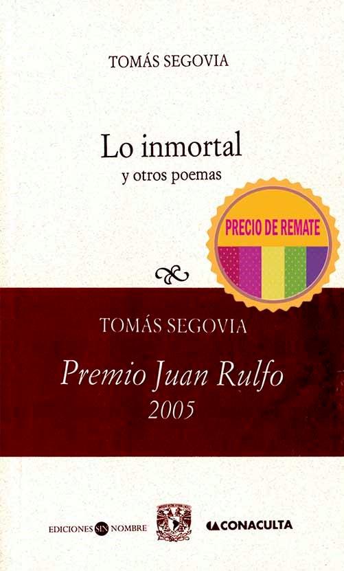 Lo inmortal y otros poemas