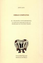 Obras completas XI. Filosofía contemporánea
