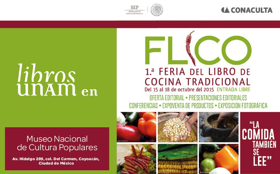 Libros UNAM en la primera edición de la  Feria del Libro de Cocina Tradicional