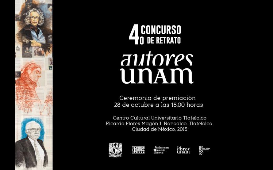 Fallo de la convocatoria del 4º Concurso de retrato Autores UNAM