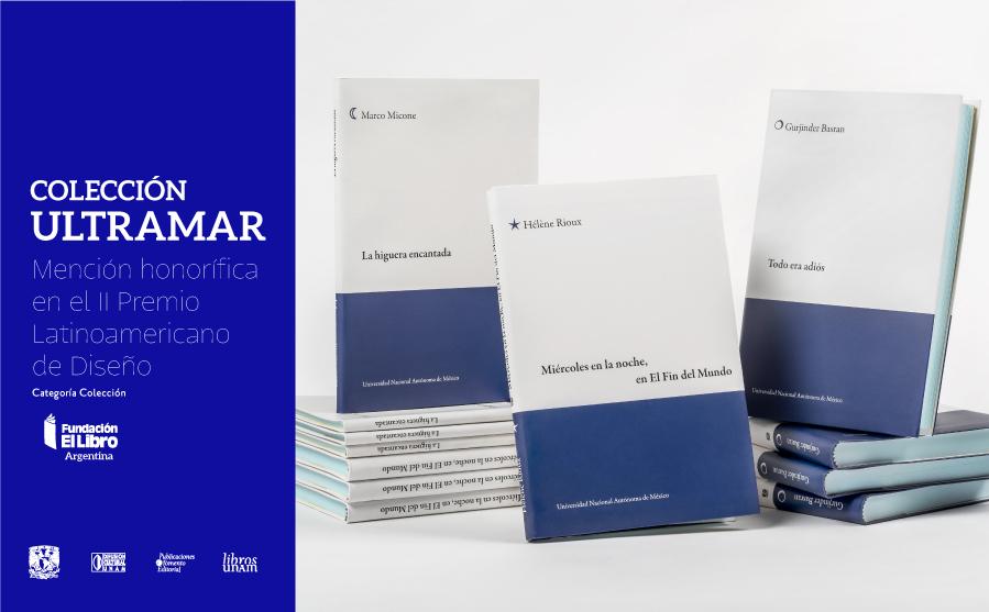 Recibe la Colección Ultramar mención honorífica en el  II Premio Latinoamericano al Diseño Editorial
