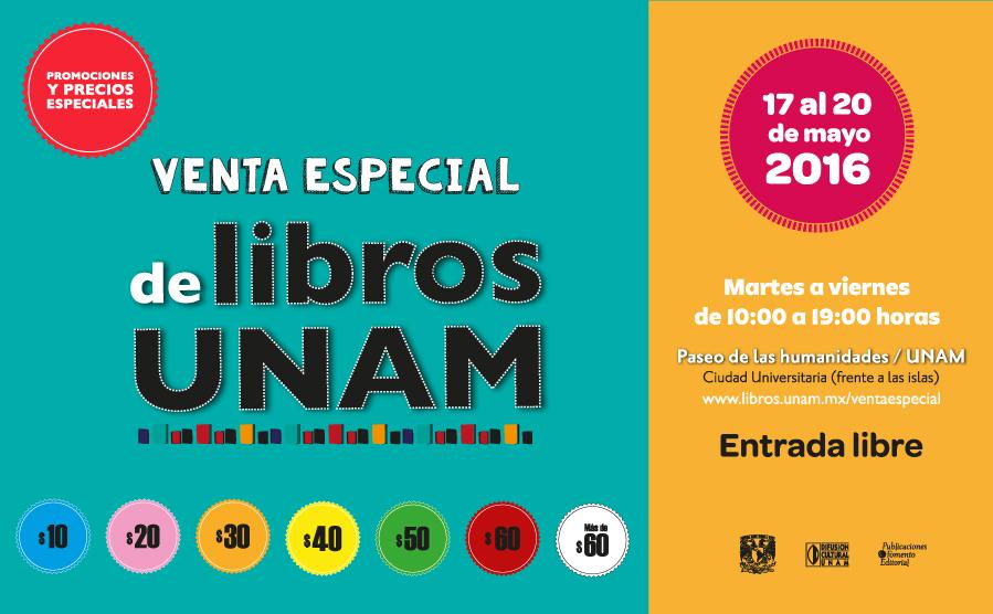 Lista la segunda edición de la Venta Especial de Libros UNAM
