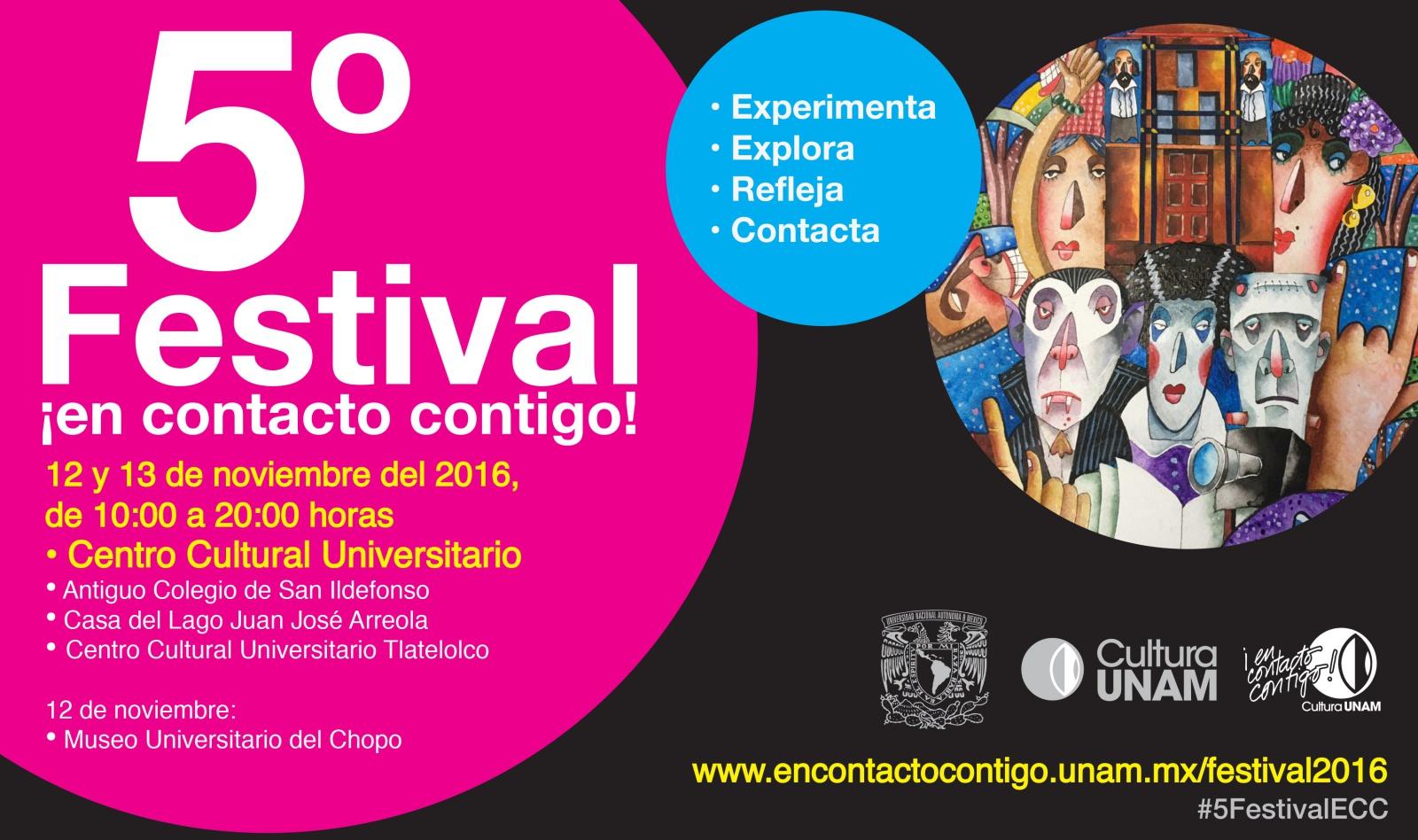 Libros UNAM participa en el 5º Festival ¡En contacto contigo!