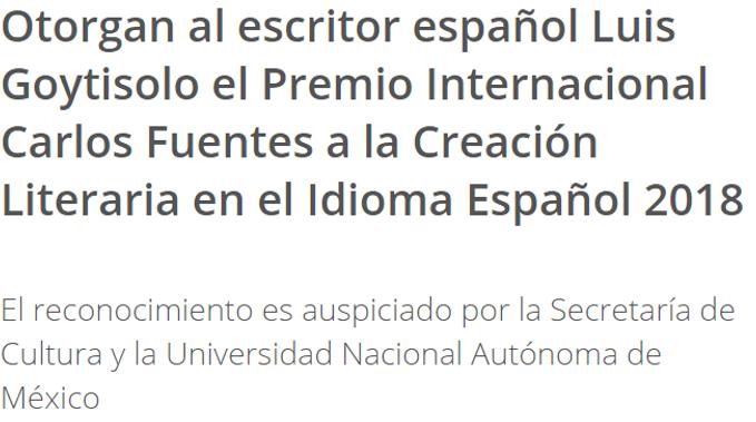 Creación Literaria en el Idioma Español 2018